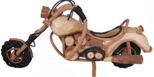 Balinese Bambu och Trä Motorcycle