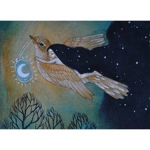 Dubbla vykort - Souring by Starlight