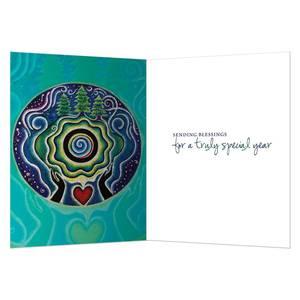 Dubbla vykort - Holiday Mandala Blessing