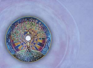Dubbla vykort - Solstice Mandala