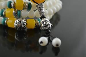 Vit Pärlor Mala - 108st Pärlor