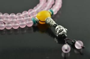 Rose Kvarts  Mala - 108st Pärlor