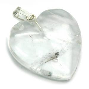 Bergkristall Hjärta Hänge