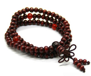 Mala Armband  / Halsband - Körsbär Röd