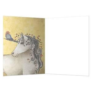 Dubbla vykort - Believe In Yourself Unicorn