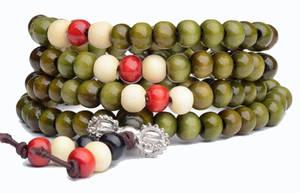 Mala Armband / Halsband  - Grön Färg - Dorje