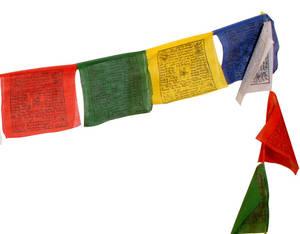 Tibetanska böneflaggor - 10st Lång