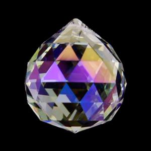 Glas Prismor - 4cm Facetterad kula -  Aurora