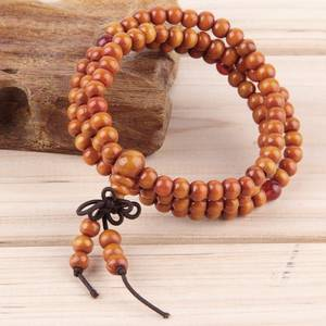 Mala Beads Armband - Trä / Glas