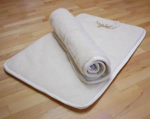 Yogamatta i merinoull - Short - latexbotten -Eko