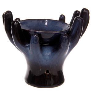 Oljebrännare I Keramik - Händer - Blå