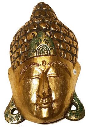 Guld Buddha Mask  - 30cm