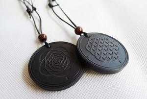 Quantum Scalar Energi Halsband - Merkebah / Flower of Life