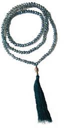 Mala Halsband med Toffs - Sky Blå Krystallglas