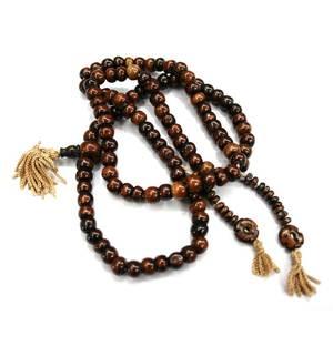 Tibetanska Radband - Brun pärlor