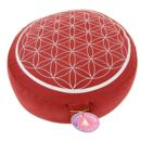 Meditationskudde -  Livetsblömma - Röd
